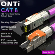 ONTi Cat8 Ethernet Patch Cable High Speed S/FTP 22AWG Screened Solid LAN Network Cable 40Gbps 2000Mhz (2Ghz) for Router/Gaming