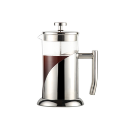 French Press Coffee Maker 4 Level Filtration System Heat Resistant Borosilicate Glass by Cafe Du Chateau