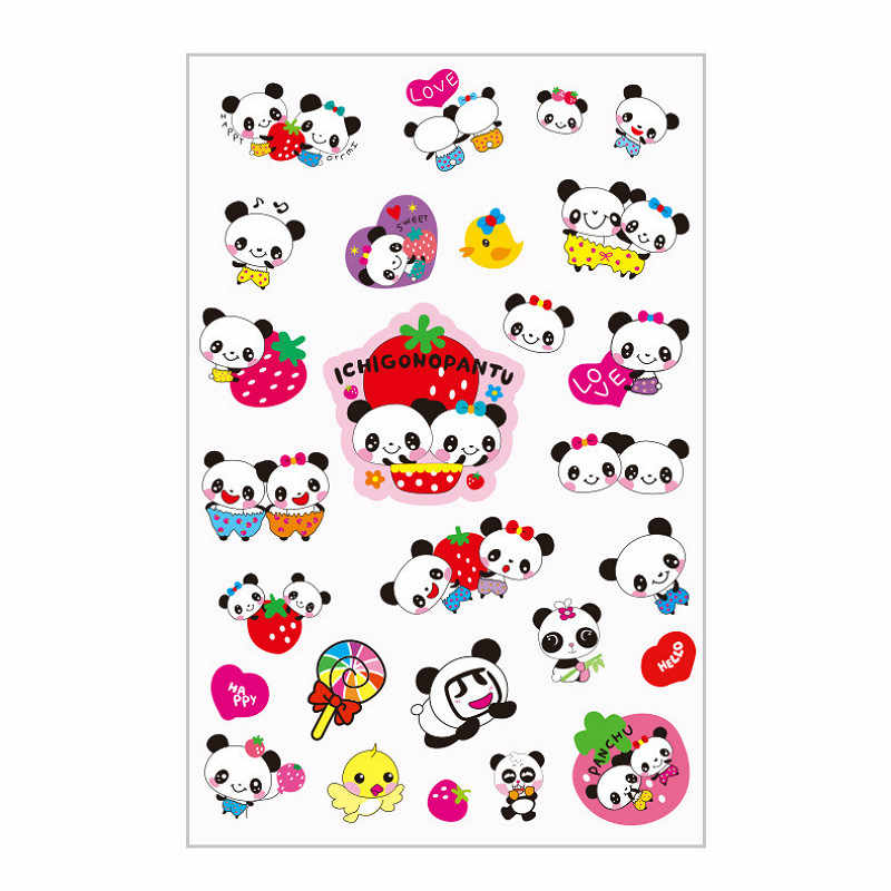 1 Pcs Panda Sticker Anak DIY Cover Kartun Kamar Dekorasi Dinding Silikon On-Off Saklar Bercahaya Lampu Switch Outlet stiker Dinding
