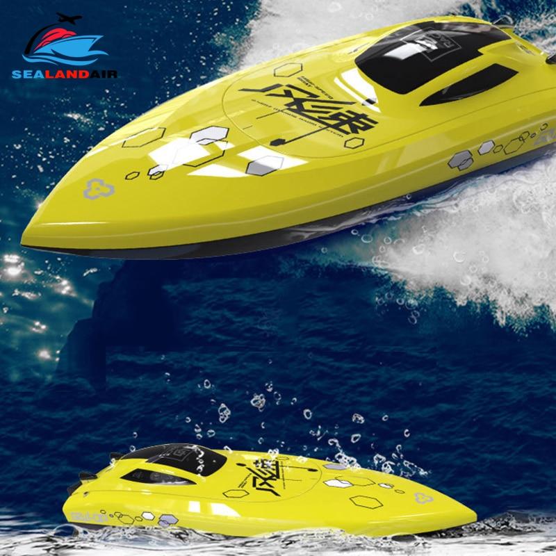 4 canaux 2.4Ghz 25 KM/H haute vitesse télécommande bateau électrique RC bateau de course étanche hors-bord jouets pour enfants cadeaux de noël