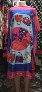 Image 4 - Dress Length:100cm Bust:140cm  African Dashiki New Fashion Design short dress oversized Plus Famous Brand Loose For Lady/women