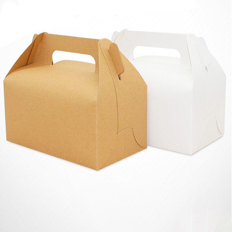 10 Uds. Caja de Papel Kraft con mango galleta Magdalena pastel para hornear cajas de boda y cumpleaños cajas de embalaje de regalo de Navidad Molde de silicona con forma de oso, herramientas para decorar pasteles, bandeja para galletas de bricolaje, cortador de gelatina, troquel de corte 3D, pastel de cocina para hornear, Color al azar