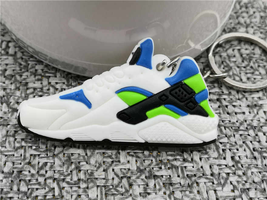 Cute Mini Silicone Air Huarache Run Shoes Keychain Fashion Bag Charm Woman Men Kids Key Ring Gifts Sneaker Key Holder Key Chain