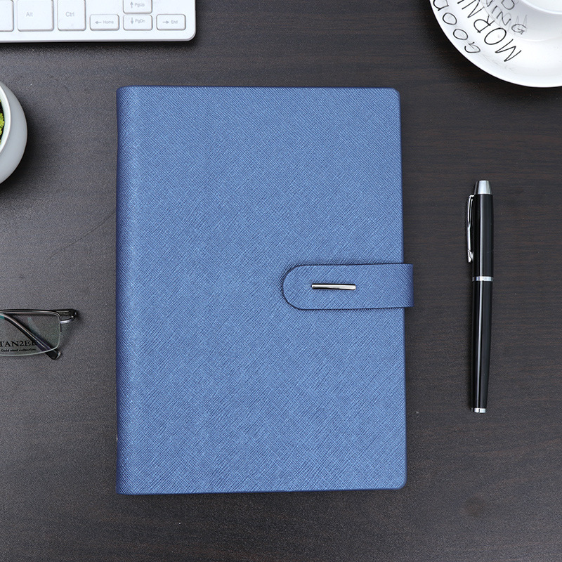 Купить с кэшбэком Notebook A5 Business office gift metal button page notebook study meeting gift diary note