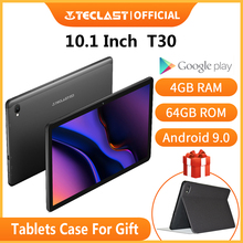 Neueste Teclast T30 Tablet Android 9,0 OS 10,1 Zoll 4G Netbook und Call 1920*1200 Phablet Octa Core 4GB RAM 64GB ROM 8000mAh