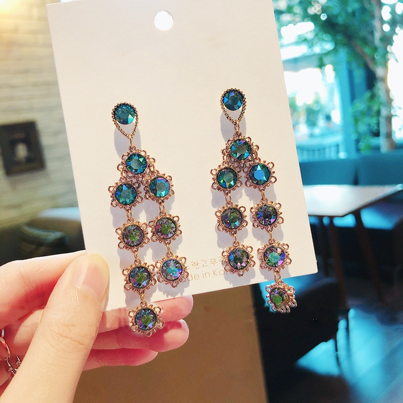 Купить женские висячие серьги mengjiqiao корейские элегантные разноцветные