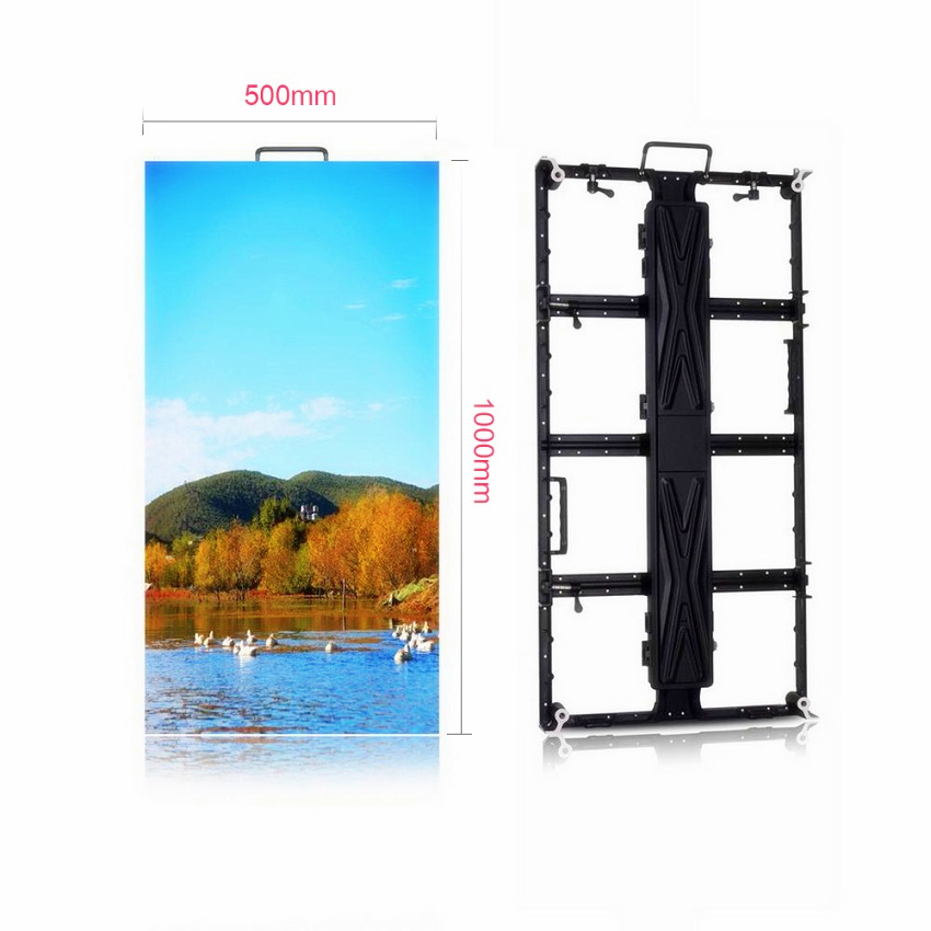 High Quality HD LED Panel P3.91 SMD2121 RGB LED Display 500x1000mm Die Cast Aluminum Cabinet Rental Indoor Advertising Screen