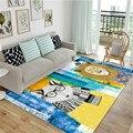Ковер в скандинавском стиле  современный американский мультяшный ковер  Семейный детский коврик  коврик для дивана  домашний прямоугольный...