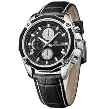 Часы megir Мужские кварцевые с хронографом модные мягкие студенческие