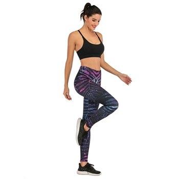 Brands Women Fashion Legging Fluorescent tree branch Printing leggins Slim High Waist Leggings Woman Pants 6