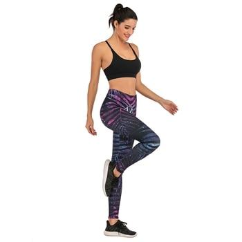 Brands Women Fashion Legging Fluorescent tree branch Printing leggins Slim High Waist Leggings Woman