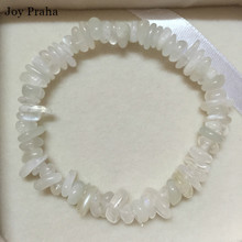 Natural white moonstone women bracelet / Crystal jewelry