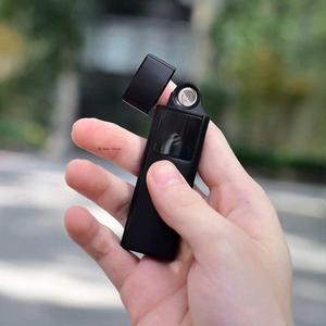 Image 2 - Mijia Beebest metalowa zapalniczka elektroniczna USB akumulator z ekranem dotykowym wiatroszczelne gadżety papierosowe mężczyźni bezpieczne bez ognia