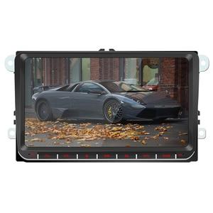 Image 1 - 2Din 9 بوصة أندرويد 9.1 سيارة مشغل وسائط متعددة لتحديد المواقع والملاحة ستيريو راديو لاعب واي فاي للجولف MK5 سكودا باسات B6