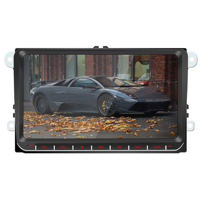 2Din 9 بوصة أندرويد 9.1 سيارة مشغل وسائط متعددة لتحديد المواقع والملاحة ستيريو راديو لاعب واي فاي للجولف MK5 سكودا باسات B6