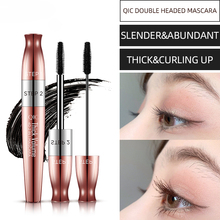 New 4D Silk Fiber Eyelash Makeup Color Mascara Waterproof Fast Dry Eyelashes Curling Lengthening Makeup Eye Lashes Black Mascara new fashion pro handle eye curling eyelashes eye lashes curler clip beauty makeup tool 3 color