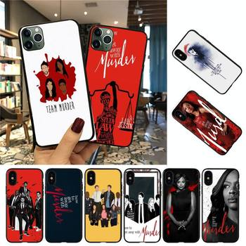 YNDFCNB How to Get Away with Murder Phone Case For iPhone 8 7 6 6S Plus 5 5S SE 2020 12pro max XR X XS MAX 11 case image