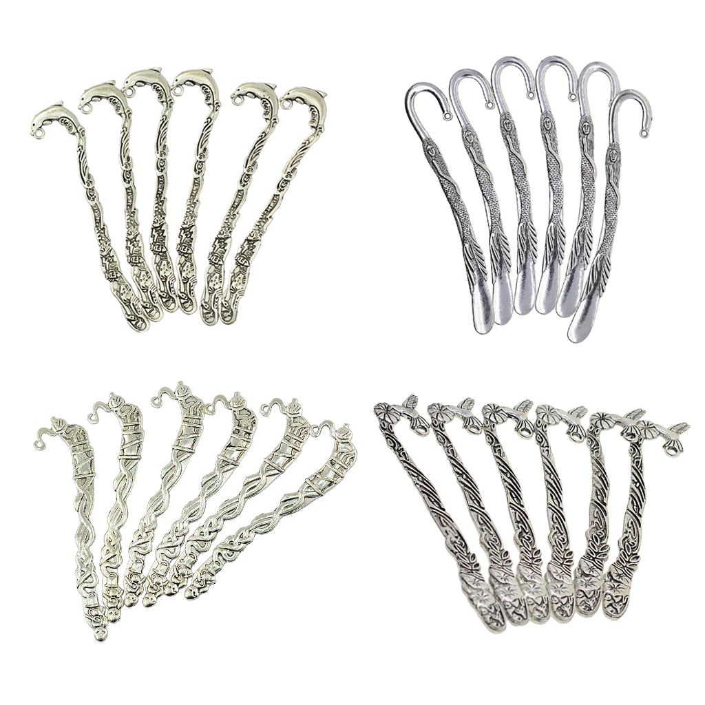 Details about  /5Pcs Tibetan Silver Hook Carve Retro Cloud Pattern Charms Bookmarks 90x14mm