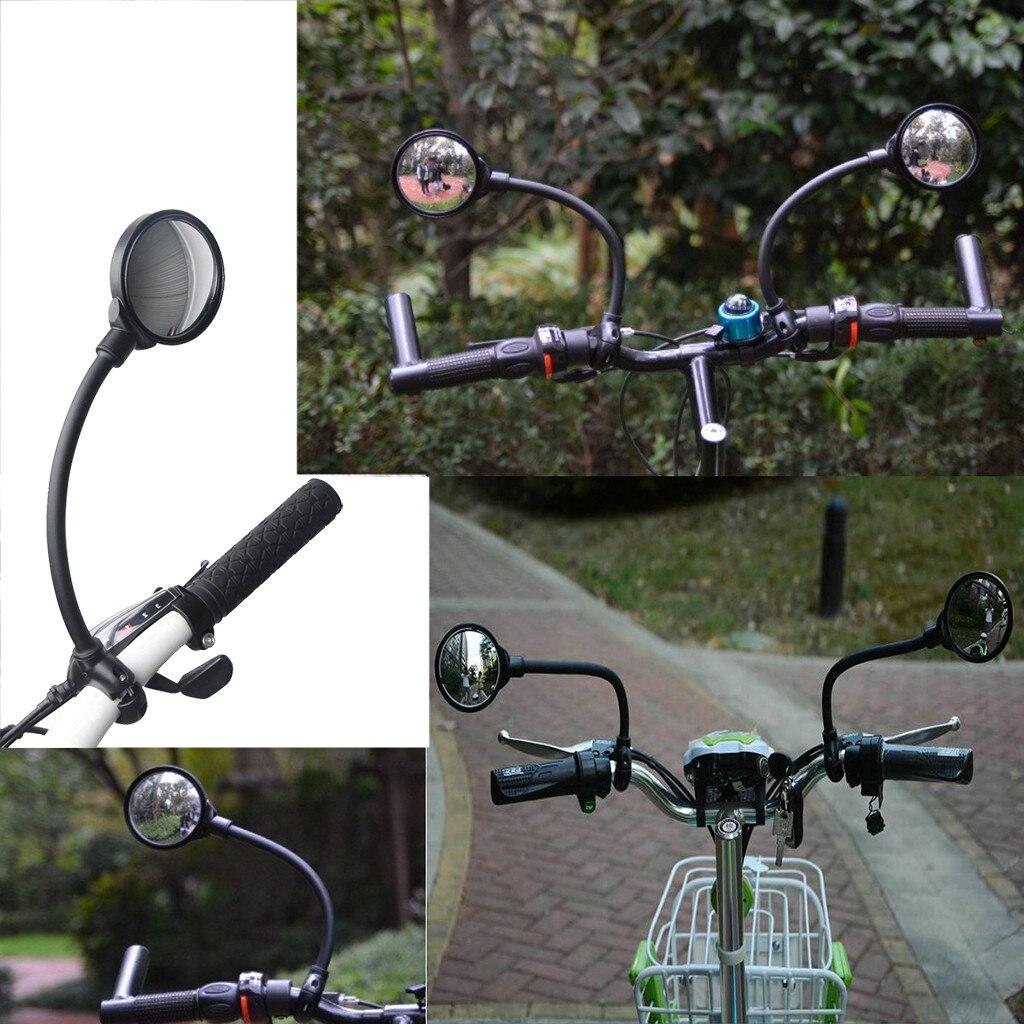 1 шт. поворотное зеркало заднего вида на 360 ° для велосипеда Регулировка шланга на руль зеркало заднего вида для велосипеда MTB Велосипедное З...