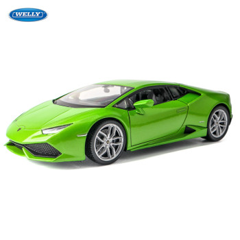 цена на welly1: 24 Lamborghini LP610-4 alloy car model simulation collection gift die-cast model non-remote control type toy