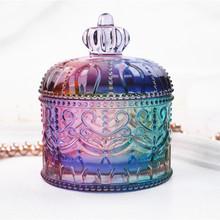 Korona makijaż wstaw pojemnik na termos Box pudełko z biżuterią silikonowe formy do DIY Craft Epoxy Uv makijaż Jar narzędzia do rękodzieła dla żywicy tanie tanio Fatalism 0 156kg resin mold SILICONE