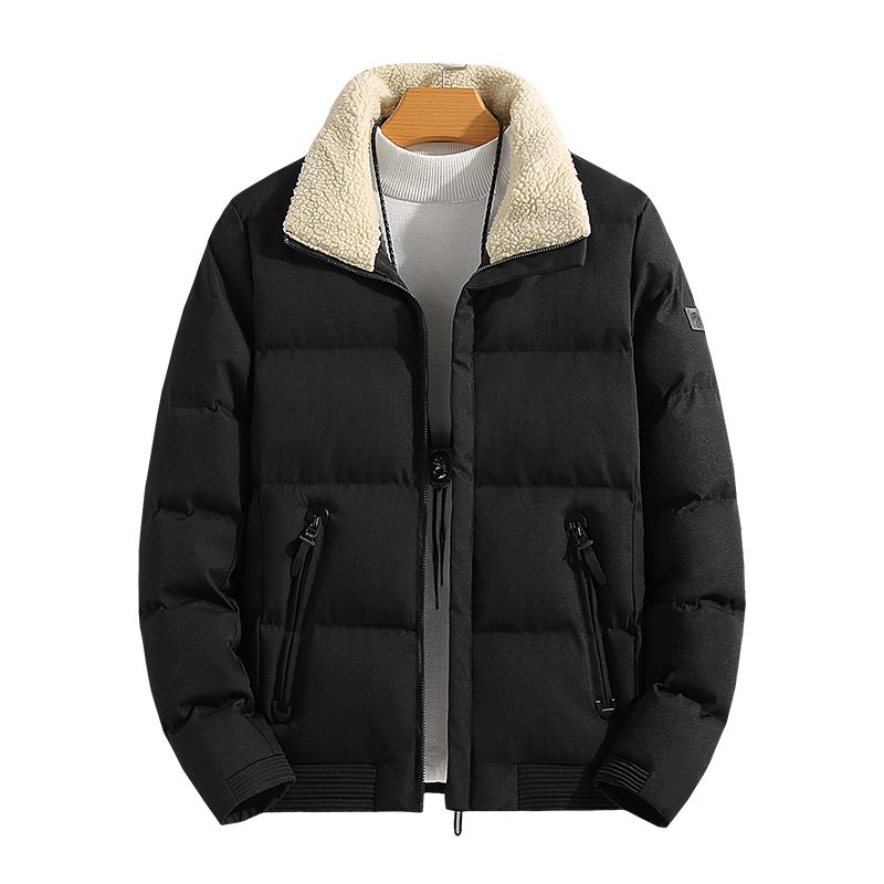 Men Winter Puffer Jacket Clothing 2019 CottonThick Wear-Resistant Slim Jacket Zipper Canvas Long Coat Slim Utility Clothes