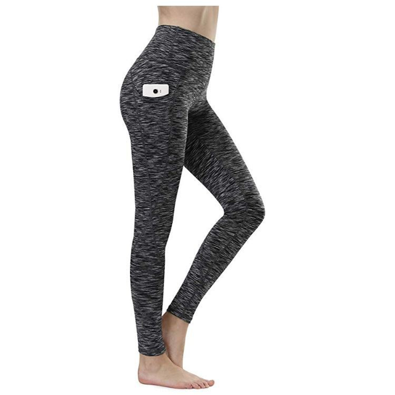 Leggings High Waist Yoga Pants with Pockets Tummy Control Capris Leggings Workout 4 Way Stretch Yoga running pants