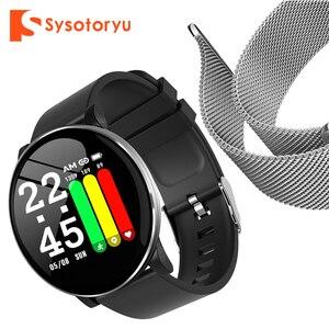 Image 1 - 2019 heißer Smart Uhr Herz Rate Blutdruck Smart Uhr Männer Bluetooth Armband Smartwatch Frauen für Apple IOS Android Telefon