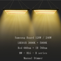 Dimmable 120W 240W Quantum LED Grow Light Full Spectrum Board Samsung LM301H/LM301B SK 3000K 5000K 660nm 760nm for Indoor Plants