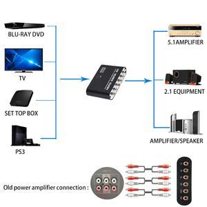 Image 3 - דיגיטלי לאנלוגי 5.1 ערוץ סטריאו AC3 אודיו ממיר אופטי SPDIF קואקסיאלי AUX 3.5mm כדי 6 RCA סאונד מפענח מגבר