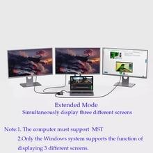 USB Hub TypeC Dock Station USB C Dual HDMI VGA RJ45 PD USB 3.0 for Laptop Thunderbolt 3