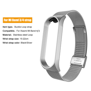 Image 3 - Stainless Steel For Xiaomi mi band 4 3 2 strap Metal Wristband For Mi band 4 Bracelet Accessories Miband 4 NFC Global wristbands