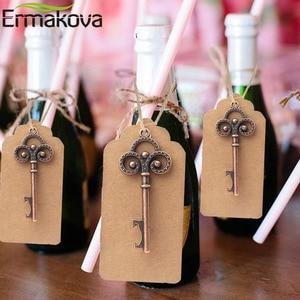 Image 5 - ERMAKOVA 50ชิ้น/ล็อตที่เปิดขวดโครงกระดูกไวน์Blank Cardสำหรับผู้เข้าพักRustic Wedding Party Favorsของขวัญของที่ระลึก
