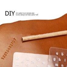 3 шт кожаный инструмент для рукоделия с буквенным принтом набор