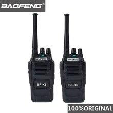 2 stücke Baofeng K5 Ham Radio Walkie Talkie 400 470MHz UHF Transceiver 1500mAh 2 Weg Radio Amateur handlich Sprech für Sicherheit