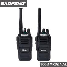 2pcs baofeng k5 ham rádio walkie talkie 400 470mhz uhf transceptor 1500mah 2 maneira rádio amador interfone acessível para a segurança