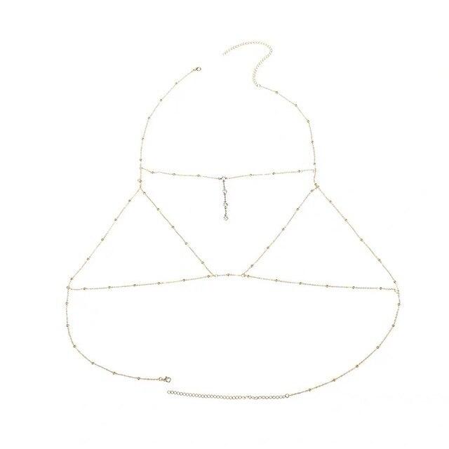 New tassel bikini chest chain body waist chain Beach Sexy multi-layer tassel body jewelry women's chest chain 6