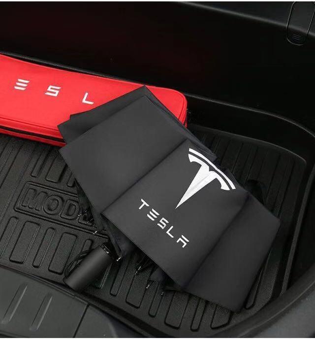 Entièrement automatique parapluie pliant voiture de luxe peinture noire pour Tesla BMW Mercedes Volkswagen Kia Ford Honda Toyota Volvo Chevrolet