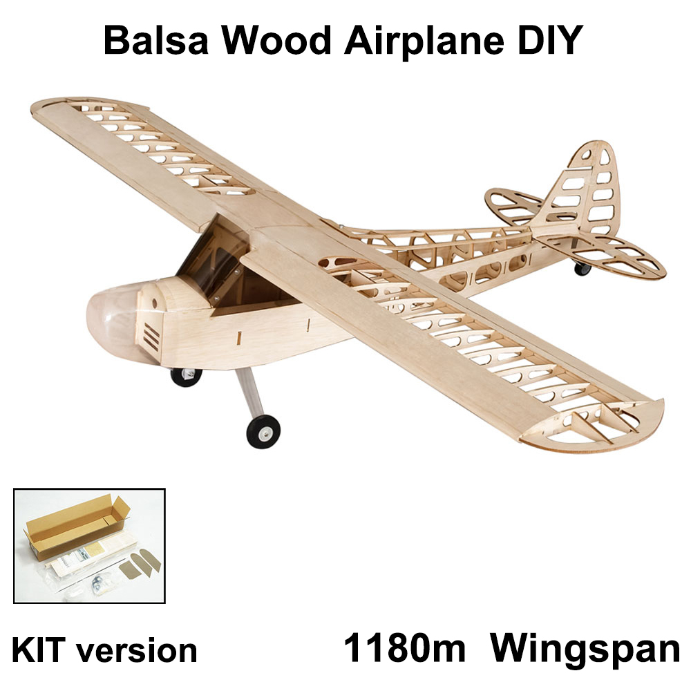 DIY Flying Model S0801 Balsa Wood RC Airplane 1.2M Piper Cub J-3 Remote Control Aircraft KIT Version DIY Toys For Kids