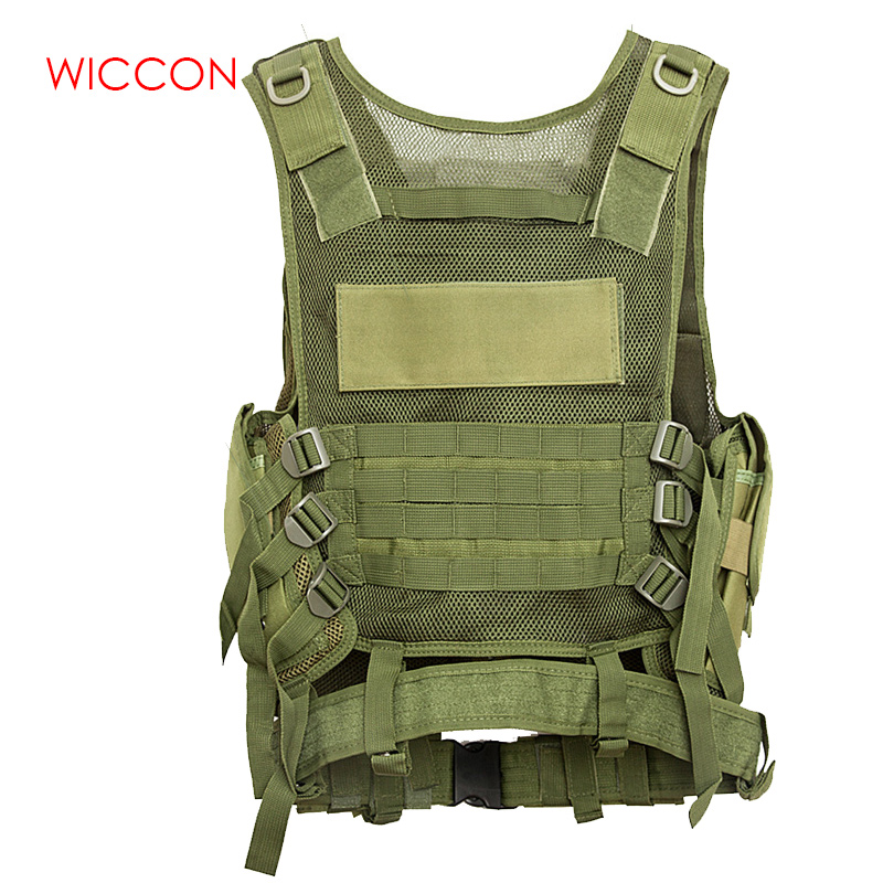 Equipment Military Tactical Army Polyester Airsoft Breathable Lightweight Vest for Camping Hiking Accessory