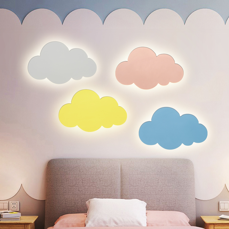 Led Cloud Wall Light For Bedroom Children Nursery Kids Wall Light Side Lamp Art Deco Sconces Wall Side Lamp Fixtures Led Indoor Wall Lamps Aliexpress