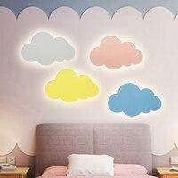 Led nuvem luz de parede para o quarto das crianças do berçário luz da parede lado da lâmpada arandelas arte deco parede luminárias