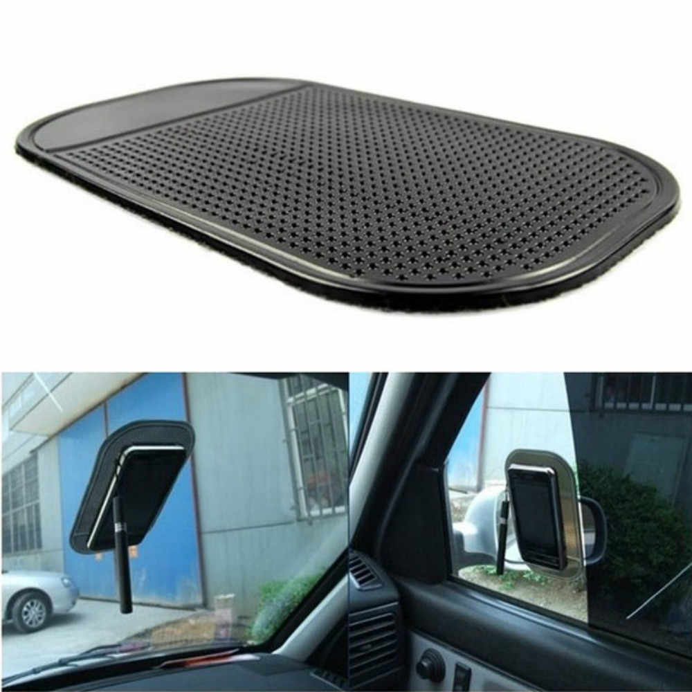 Car Non-Slip Dashboard Magic Sticky Pad Anti-Slip Rubber Gel Mat Cushion for iPhone Mobile Phone Auto Interior Accessories Black