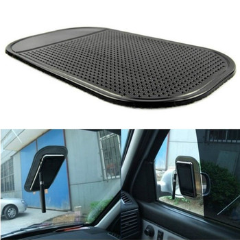Car Non-Slip Dashboard Magic Sticky Pad Anti-Slip Rubber Gel Mat Cushion for iPhone Mobile Phone Auto Interior Accessories Black image