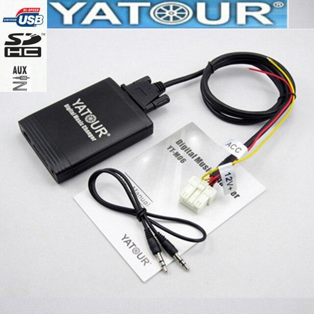 Yatour راديو السيارة USB SD AUX واجهة رقمية لنيسان Xtrail ألميرا قاشقاي Teana Primera راديو مغير الموسيقى الرقمية