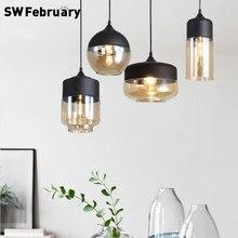 Luzes pingente de vidro moderno lâmpada pendurada cozinha luminária jantar hanglamp sala estar led pingente lâmpadas