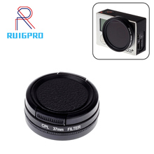 RP 37mm Diameter Split CPL Filter for Gopro Hero 4 3+ Action Camera with Lens Cover Go pro Accessories