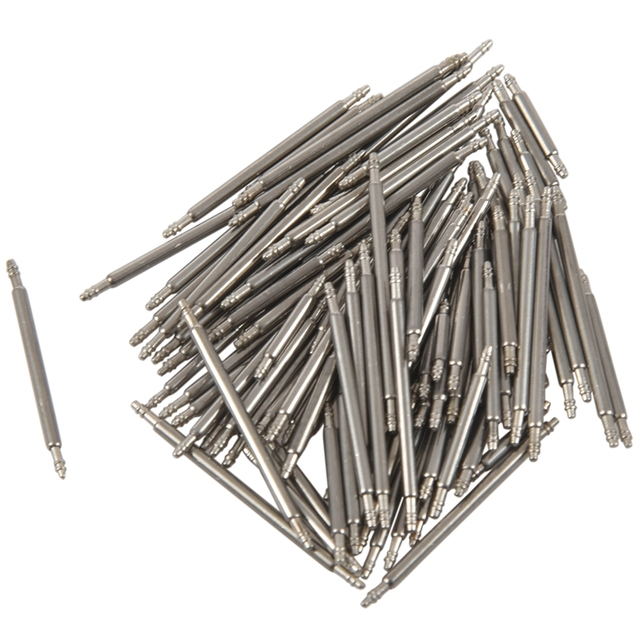 HOT 108pcs 8-25mm Stainless Steel Watch Band Strap Spring Bar Link Pins Remover New Silver 2