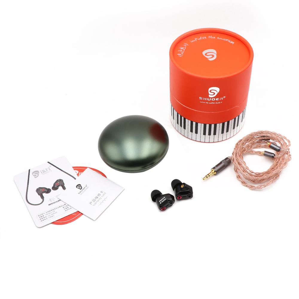 Shuoer Tape электростатический драйвер HiFi наушники вкладыши со съемным MMCX кабелем для аудиофилов - 6