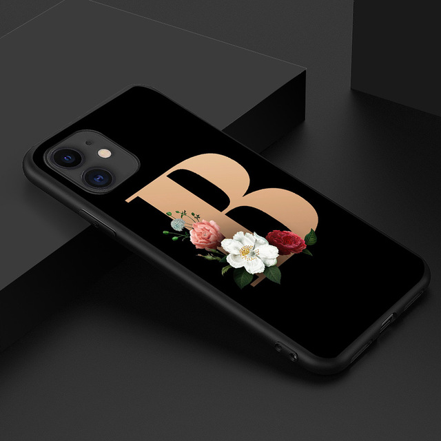 PUNQZY Art letters Flower Case For Samsung A50 A70 A30 S20 S11 S10 S9 S8 S20 PLUS S6 S7 S11E English alphabet Love Soft TPU CASE